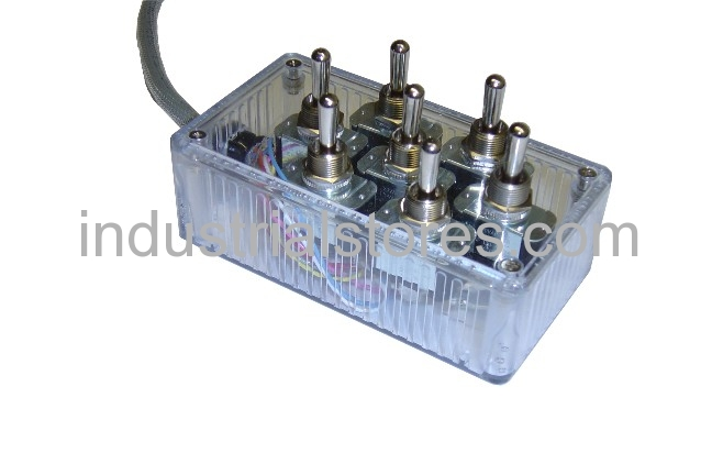 AVS ARC-T7-CL Clear 7 Switch Box With Carling Switches 4.75