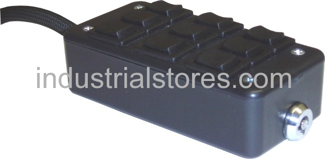 AVS ARC-9-BK Black 9 Switch Box Rocker Switch 4