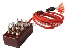 AVS ARC-T9-RD Red 9 Switch Box with Carling Switches 4.75