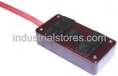 AVS ARC-7-RD Red 7 Switch Box Rocker Switch 4
