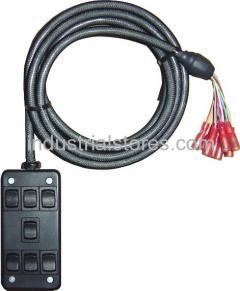 AVS ARC-7-BK Black 7 Switch Box Rocker Switch 4