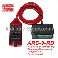 AVS ARC-9-RD Red 9 Switch Box Rocker Switch 4