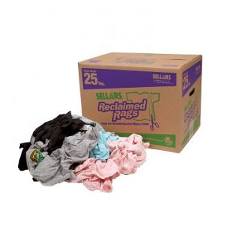 Sellars 99205 Multicolored Reclaimed Knit/Polo Rags (25lb box)