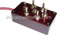 AVS ARC-T7-RD Red 7 Switch Box with Carling Switches 4.75