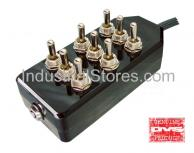 AVS ARC-T9-BK Black 9 Switch Box with Carling Switches 4.75
