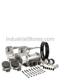 """Viair 38002 Compressor Pewter """"Dual Pack"""" 200psi with 2 Relays & 1 Pressure Switch"""