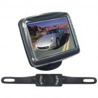 "PYLE PLCM36 3.5"" Slim TFT LCD Universal Mount Monitor System with License Plate Mount & Rearview Camera"