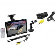 "PYLE PLCM7500 7"" Window Suction-Mount TFT LCD Widescreen Monitor & License Plate Mount Rearview Color Camera with Distance-Scale Line"