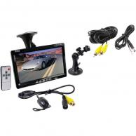 "PYLE PLCM7700 7"" Window Suction-Mount TFT LCD Widescreen Monitor & Universal Mount Rearview Color Camera with Distance-Scale Line"