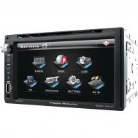 "POWER ACOUSTIK PD-651B 6.5"" Double-DIN In-Dash LCD Touchscreen DVD Receiver (With Bluetooth(R))"