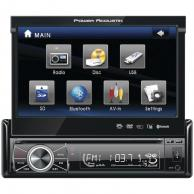 "POWER ACOUSTIK PTID-8920B 7"" Single-DIN In-Dash Motorized Touchscreen LCD DVD Receiver with Detachable Face (With Bluetooth(R))"