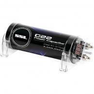 SOUNDSTORM C22 2-Farad Capacitor with Digital Display (Black Finish)